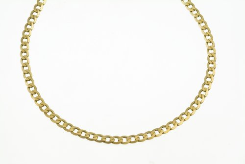 Necklace, 9ct Yellow Gold Curb Chain, 46cm Length, Model AFC 100