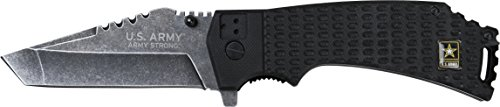 U.S. ARMY A-A1021BP Closed Length Spring Assisted Folder Knife, 4.75-Inch