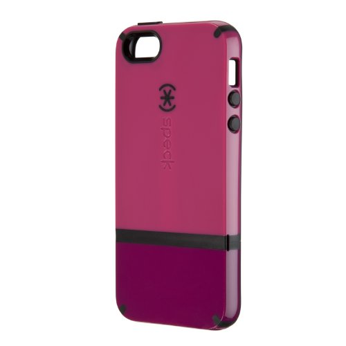 Best Price Speck Products CandyShell Flip Dockable Case for iPhone 5 & 5S - Retail Packaging - Raspberry Pink/Dark Raspberry/Black