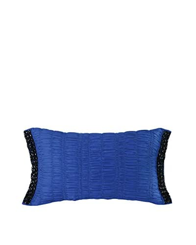 Nanette Lepore Villa Peacock Cobalt Decorative Pillow, Black/Blue