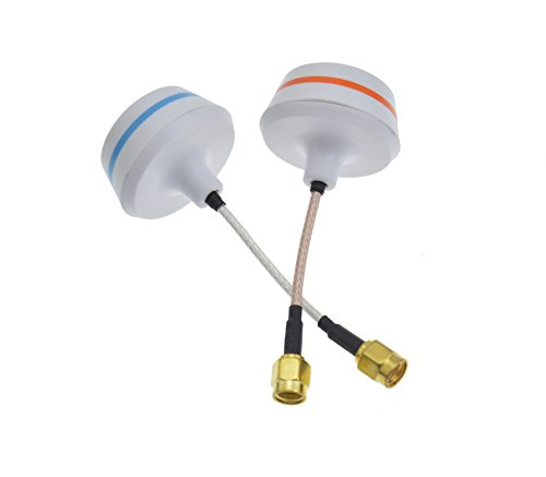 Jrelecs® 5.8 GHZ Circular Polarized Antenna Set Tx&rx Right Angle SMA Female White