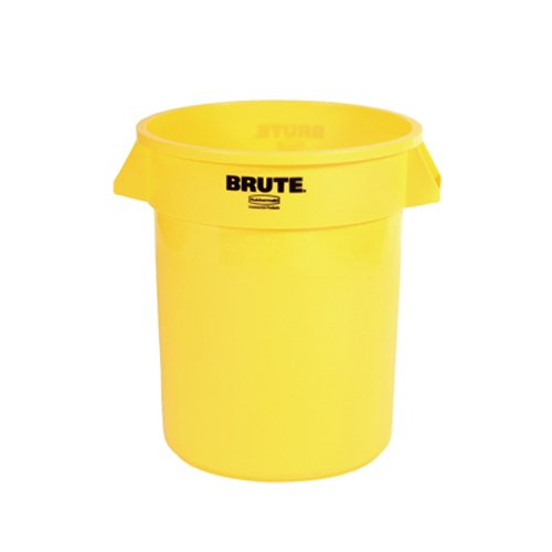 Rubbermaid Commercial FG261000YEL BRUTE Heavy-Duty Round Waste/Utility Container, 10-gallon, Yellow (Commercial Garbage Container compare prices)