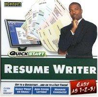 New Quickstart Quickstart Resume Writer Easily Add Cover Letters Print E-Mail Post Online