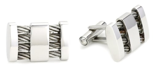 Stainless Steel With Cable Wire Cufflinks