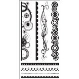 Hampton Art Curvaceous Borders Rubber Stamp - 1