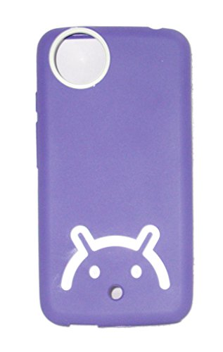 ECellStreet Micromax Canvas A1 Android One Android Logo Smiley Soft Back Case Cover Back Cover White In Purple