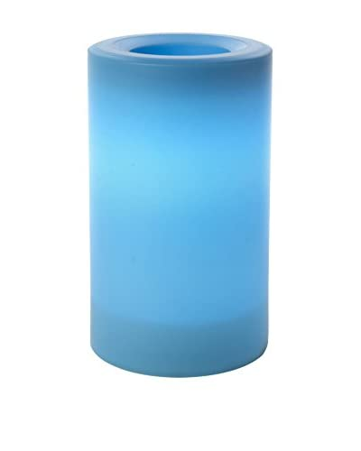 Candle Impressions Flameless Candle Outdoor Pillar with Timer, Blue