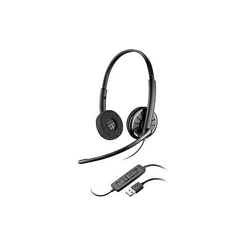 Plantronics Blackwire (85619-01) Lightweight Over The Head Binaural Semi Open Noise Cancelling Usb Stereo Headset Optimized For Microsoft
