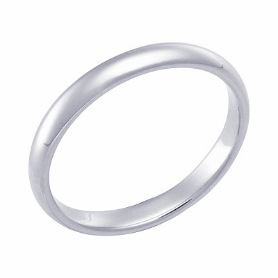 2.5 Millimeters High Polished Palladium Comfort Fit Wedding Band Ring with Luxury High Polish by Wedding Rings by Oromi, Finger Size 15½