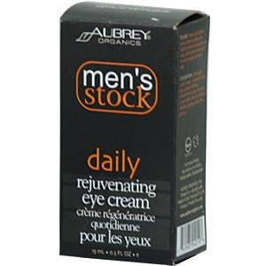 Aubrey Organics: Men'S Daily Rejuvenating Eye Cream, 0.5 Oz