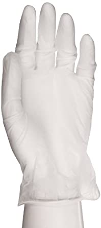 "Microflex Derma Free Vinyl Glove, Powder Free, 9.1"" Length, 3.1 mils Thick"