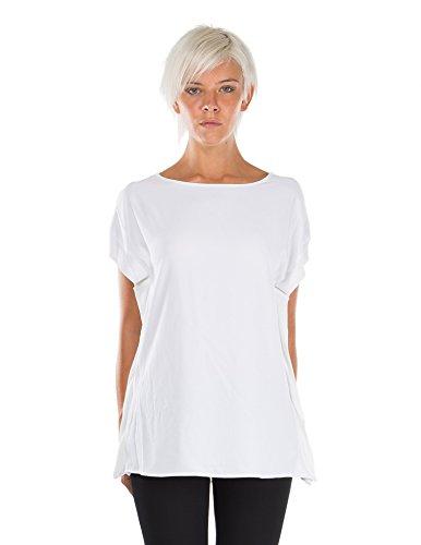 T-shirt bianca con inserti laterali - M