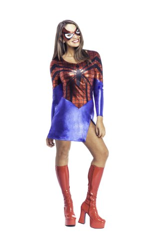 Spider Girl Costume Adult Fancy Dress Movie Spiderman - Sizes from XS to L
