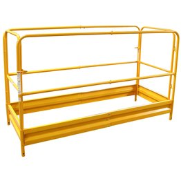 Pro-Series Painting Patching Drywall Window Cleaning 6Foot Scaffolding Guard Rail System Yellow front-1060529
