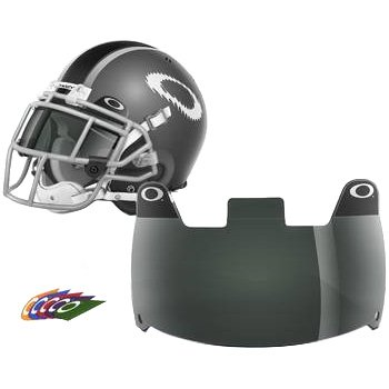 Oakley Shield Men's Football Helmet Accessories - 45% Grey / One Size (Football Helmets Shield compare prices)