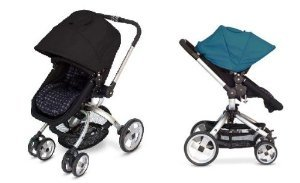 Jj Cole Broadway Stroller With Free Color Swap Canopy- Nordic Blue
