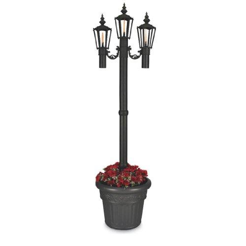 "Newport 84"" Park Style Citronella Flame Planter Lantern (Black) (84""H X 21""W X 21""D)"