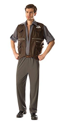 Men's Jurassic World Deluxe Owen Costume, Multi, Standard