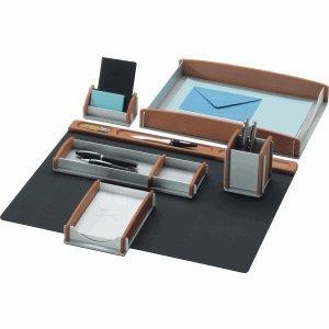 Rumold-Schreibtisch-Set-BucheAluminium-6-teilig