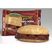 Advance Pierre Fast Choice Barbecue Rib Shape Pork Sandwich, 5.8 Ounce -- 12 Per Case.