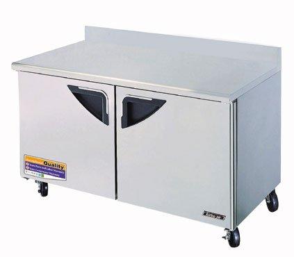 """Turbo Air - Super Deluxe 60"""" 2 Door Stainless Worktop Refrigerator front-619816"""
