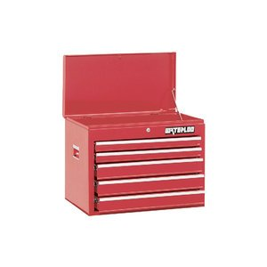 """Waterloo Wch-265Rd 26"""" 5-Drawer Red Chest- Dimensions: 26"""" X 16"""" X 19.7"""""""