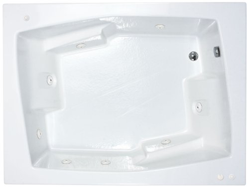 Sea Spa Tubs S5472Cwl Tubs Caresse 54 By 72 By 23-Inch Rectangular Whirlpool Jetted Bathtub, White