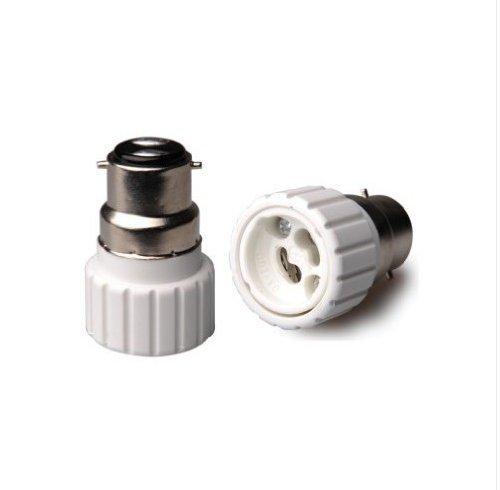 Smartdealspro 6-Pack B22 To Gu10 Led Lamp Socket Change Halogen Cfl Light Adapter Bulb Base Converter