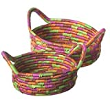 Colourful Date Leaf Baskets (2)
