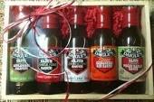 Daigles Louisiana Cajun Sauce Gift Box Set - Applewood Jalapeno, Sweet & Sour, Sweet & Sour Spicy, Habanero Rib Sauce, Pecan Garlic Sauce