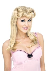 40s Pinup Wig (blonde) Adult Halloween Costume Accessory (B671-769)