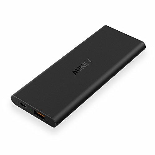 [Quick Charge 2.0対応]Aukey モバイルバッテリー 6000mAh PowerAll 超急速充電対応 Qualcomm認証済 PB-T6(ブラック)
