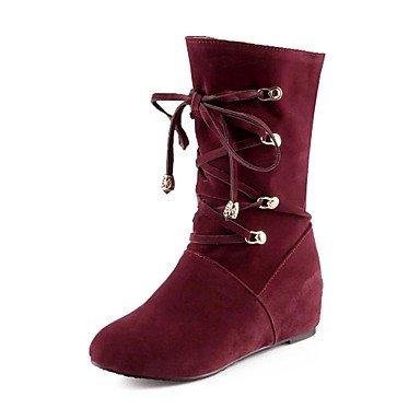 Schuhe Mode Stiefel Frauen Keilabsatz Mitte der Wade Stiefel mehr Farben erhältlich günstig online kaufen