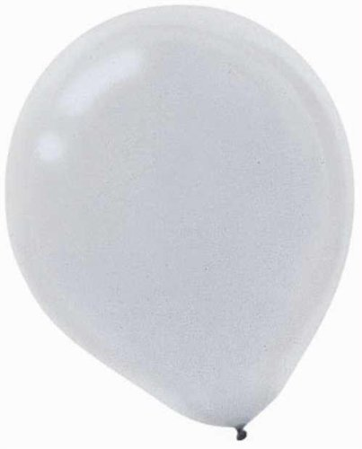 Silver Pearl 12in Latex Balloons 72ct by Party America