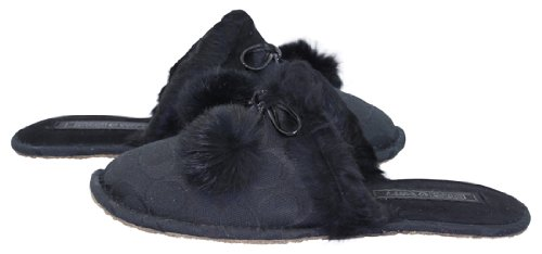 Cheap Coach Signature Jayda Black Bedroom Slippers (B004JWIIJ0)
