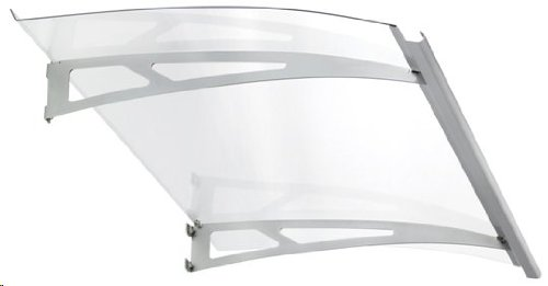 Exclusive Line Door Canopy (White) 1400 Wide With Strong Polycarbonate Glazing