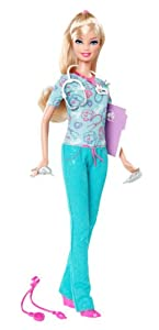 Barbie I Can Be... Nurse Doll - New 2012 Version