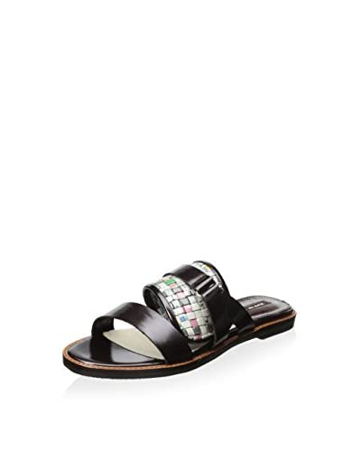 ALL BLACK Women's News Band Sandal