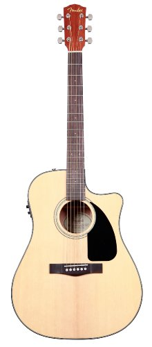 Fender CD-60CE Acoustic Electric Guitar with Case, Natural