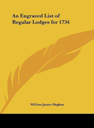An Engraved List of Regular Lodges for 1734