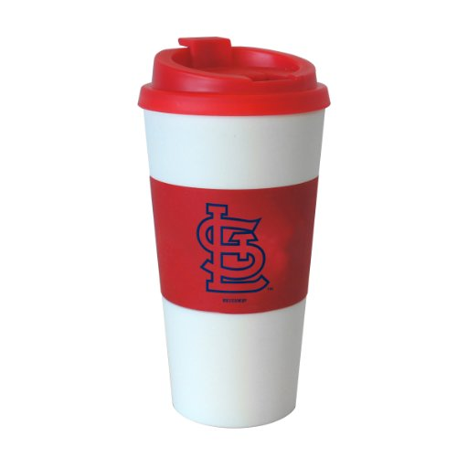 Mlb St. Louis Cardinals Sleeved Travel Tumbler, 16-Ounce