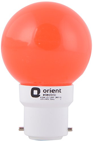 Orient Electric Eternal Deco Shine 0.5 W B22 Led Lamp (Orange)