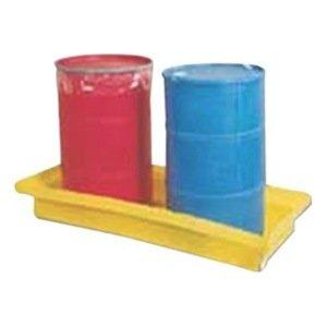 "Dixie Poly BM-ED-2 Polyethylene 2 Drum Econo-Dike, 61 gallon Sump Capacity, 65.5"" Length x 29"" Width x 9"" Height"