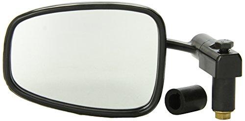 """Ken Sean 920030 Matte Black 7/8"""" Universal Semi-Rectangle Bar End Mirror"""
