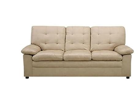 Buchannan Microfiber Sofa, Taupe