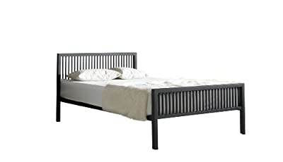 Boston Double 4ft 6inch Black Metal Bed Frame