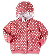 Pure Cotton Hooded Spotted Jacket