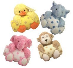 Animal and Blanket Toy and Blanket Blue Lamb - 1