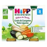 Hipp - Gratin de courgette et petits légume bio, dès 8 mois, 2x190g lot de 2