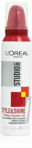 L'Oréal Paris Studio Line Style&Shine Mousse Capelli Iper-Forte, 200 ml
